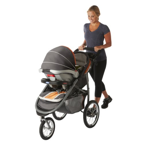 Graco FastAction Fold Jogger Click Connect Stroller, Tangerine ...